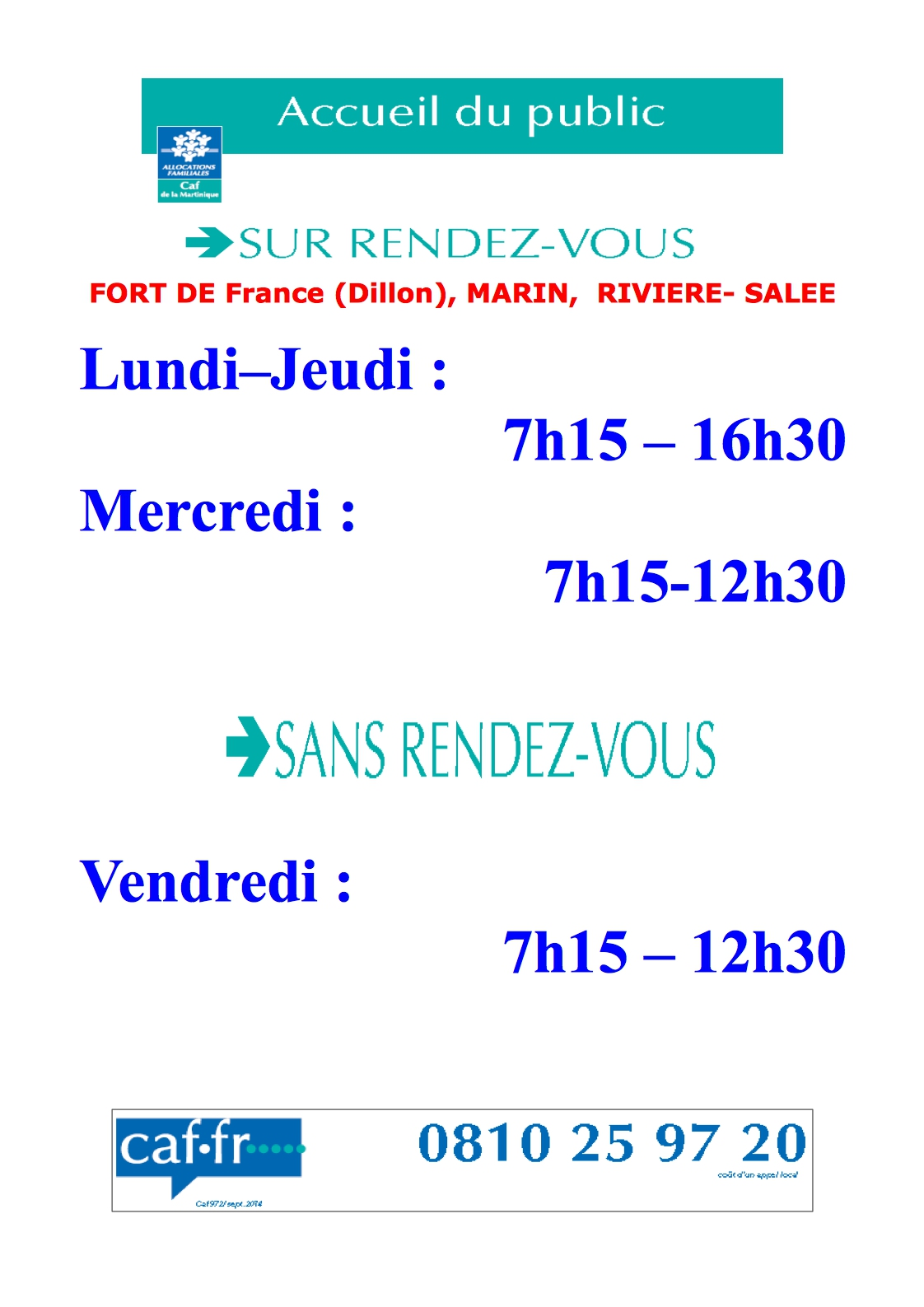 Contact Caf Horaire